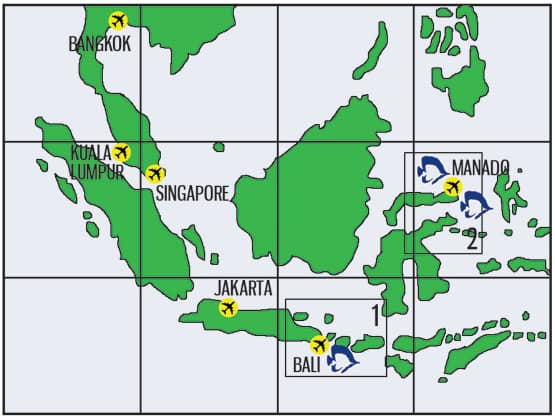 Indonesia dive safari map